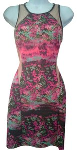Lush Floral Bodycon Mini Dress