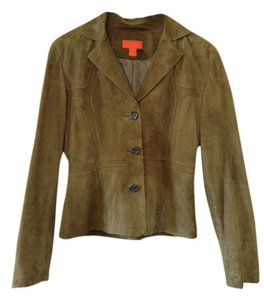 Vakko Suede Olive Brown Leather Jacket