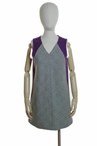 Rag & Bone short dress Gray, Purple Wool Tweed Sleeveless on Tradesy
