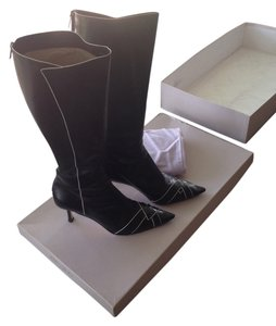 Jimmy Choo Kid Leather Black Boots