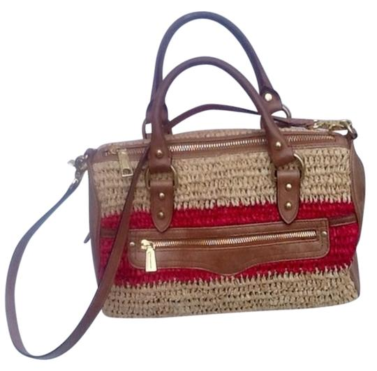 Rebecca Minkoff Satchel in Red And Carmel