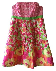 Lilly Pulitzer Strapless Cotton Floral Dress
