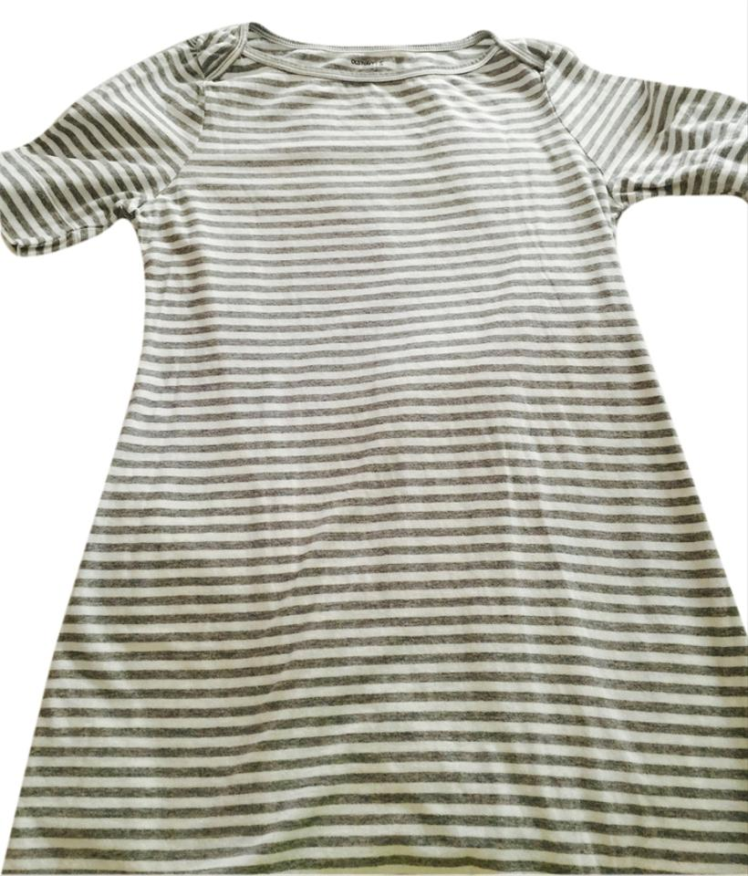 b250eb3737 Old Navy Grey/White Beach Cover Up A-line T-shirt Above Knee Short ...