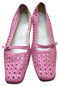 Lia by Esther Cut-out Perforated Leather Pink Pumps