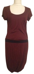A.L.C. short dress Maroon Red and Black Cotton Skirt on Tradesy