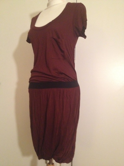 A.L.C. short dress Maroon Red and Black Cotton Gathered Skirt Skirt T-shirt on Tradesy