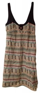 Anthropologie short dress Blue top with pink, green, turquoise, and light bl on Tradesy