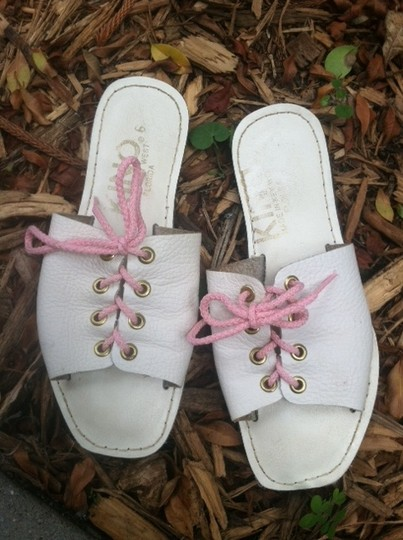 Kino White with Pink Laces Sandals