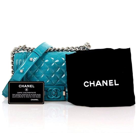 Chanel Quilted Patent Leather Plexiglass Boy Shoulder Bag
