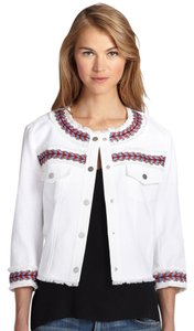Rebecca Minkoff Long Sleeve Woven White Jacket