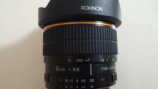 Rokinon Fish - Eye CS 8mm 3.5 Aspherical Rokinon Fish - Eye CS 8mm 3.5 Aspherical Lens