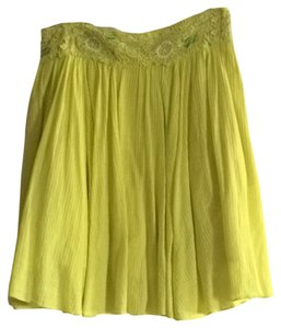 Anthropologie Skirt Yellow