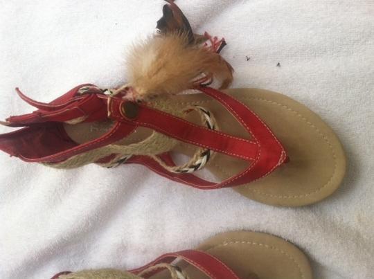 Jessy Ross You Love Me Red Sandals