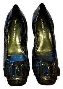 Franco Sarto Faux Leather Comfortable Ballerina Classic Casual Black Pumps