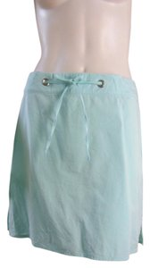 Banana Republic Casual Beach Walking Robins Egg 9464 Mini Skirt Aqua Blue