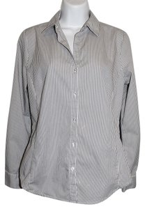 Worthington Long Sleeve Roll Up Collared Button Down Shirt