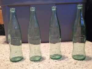 Coca-Cola Blue-green 12 Oz Coke Bottles Centerpiece