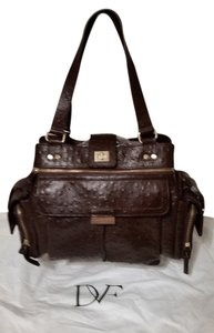 Diane von Furstenberg Satchel in Chocolate Brown