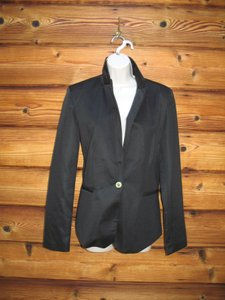 Zara Ponte Knit One-button Black Blazer