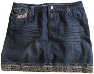 Cache Mini Skirt denim