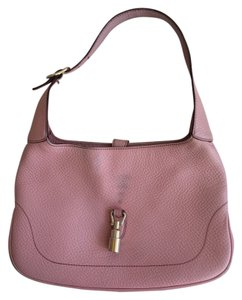 Gucci Italian Designer Leather Brand Tote in Pink