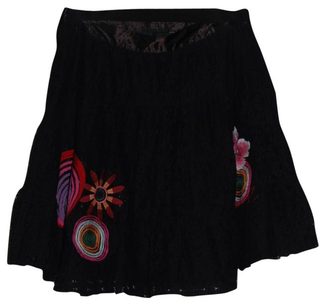 Desigual Mini Lace Mini Skirt Black