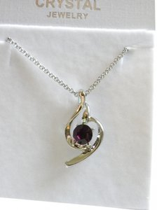 AMETHYST TOPAZ crystal PENDANT necklace