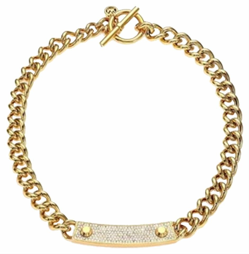 Michael kors goldtone crystal necklace 42 off michael for Michael b jewelry death
