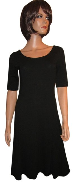 Preload https://item2.tradesy.com/images/ann-taylor-black-sheath-elbow-sleeve-mid-length-workoffice-dress-size-4-s-4066351-0-0.jpg?width=400&height=650