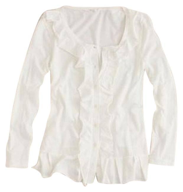 Preload https://item3.tradesy.com/images/jcrew-cream-cropped-ruffle-cardigan-size-0-xs-4066357-0-0.jpg?width=400&height=650