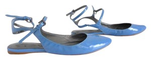 Belle by Sigerson Morrison Periwinkle Ankle Strap Pointed Toe Blue Blue Periwinkle Flats