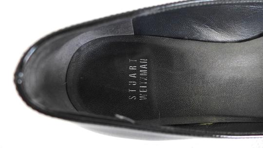 Stuart Weitzman Pointed Toe Dust Bag Black Patent Leather Flats