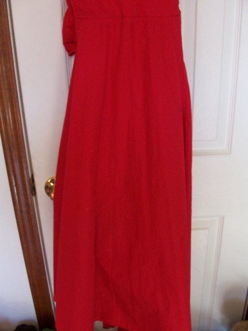 red Maxi Dress by Wrapper