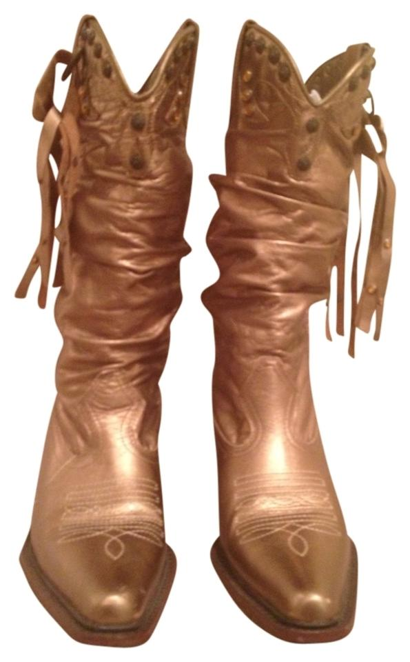 woman go Steve Madden Gold Shyann Boots/Booties Let our products go woman out into the world e27a5c
