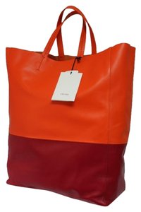 Céline Tote in Orange Magenta
