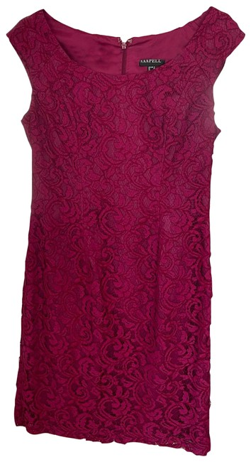 Item - Laquer Magenta Pink Above Knee Cocktail Dress Size 6 (S)