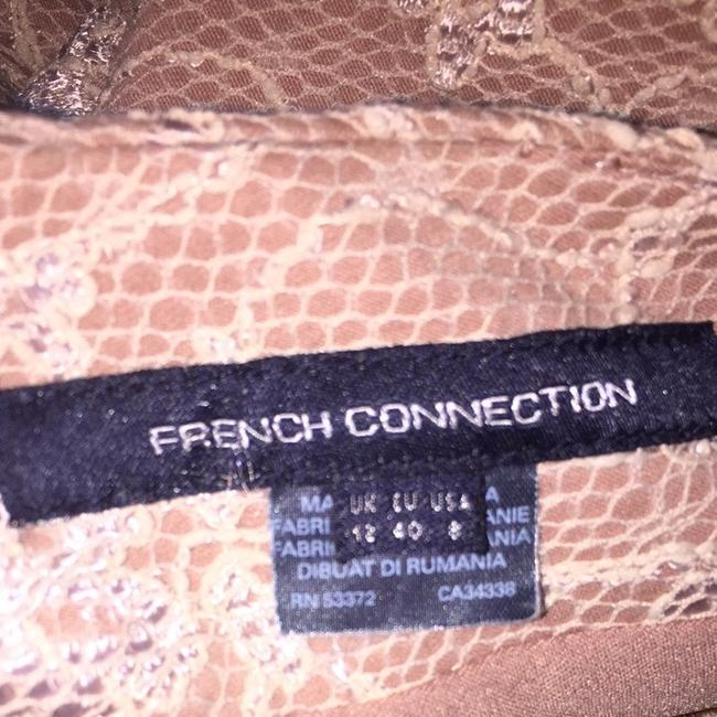 French Connection French Lace Boat Neck Nude Coctail Dress
