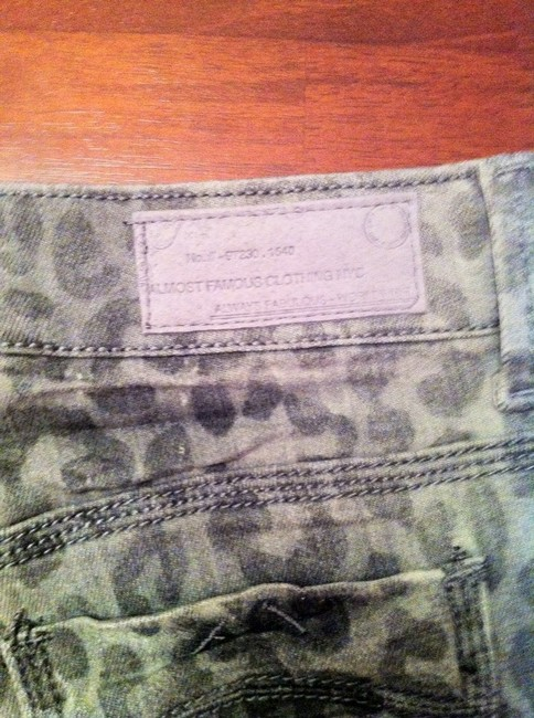Almost Famous Clothing Shorts Distressed gray Leopard