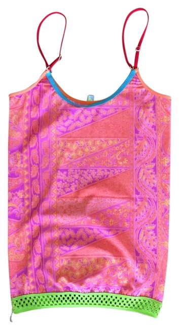 Juana De Arco Mesh Bright Top Multi-Color