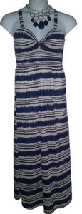 NAVY/TAUPE Maxi Dress by Gibson & Latimer
