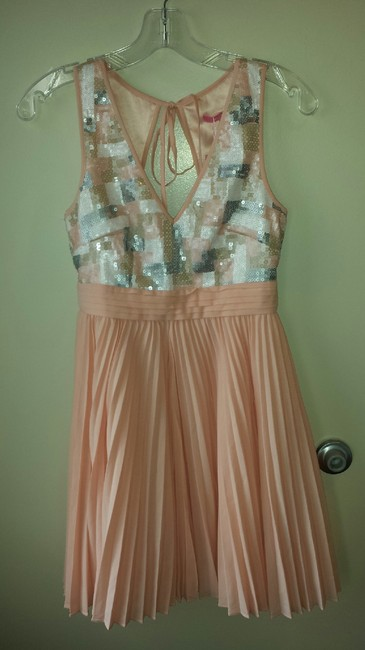 Item - Pink Modcloth Pastel Present and Futuristic Knee Length Formal Dress Size 4 (S)