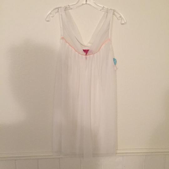 Betsey Johnson Sheer White Baby Doll Nightgown