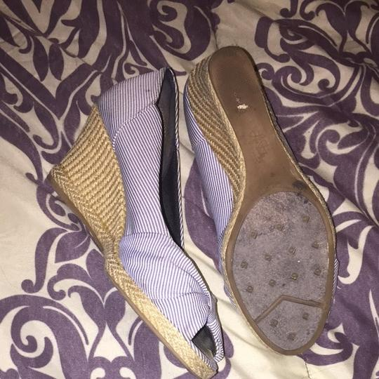 LifeStride Blue And White Wedges
