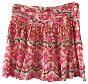 Joe Fresh Skirt Bright pink ikat print