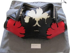 Alexander McQueen Black-Red Clutch