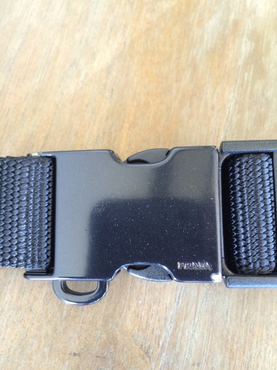 Prada PRADA Black Buckle Belt