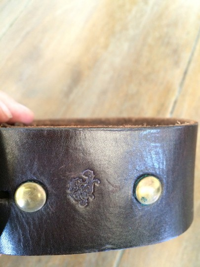 Red Monkey Red Monkey Leather Belt with Weathered Buckle
