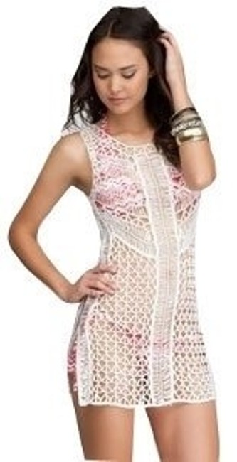 bebe Crochet Swim Coverup