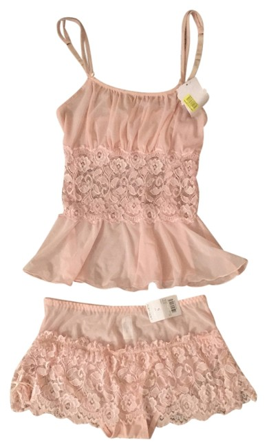 Item - Baby Pink Lingerie Cami and Shorts Set