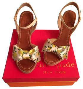 Kate Spade Yellow Wedges